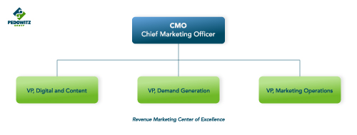 A revenue marketing center of excellence for multi-national organizations often looks like this